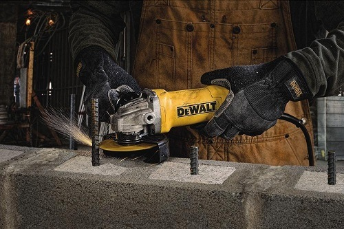 Cutting Iron with Dewalt paddle switch grinder