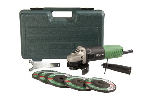 Hitachi G12SR4 Angle Grinder-With Replacement Wheels