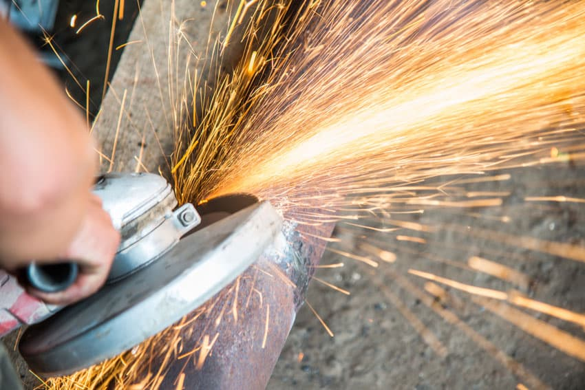 the dangers of angle grinder sparks
